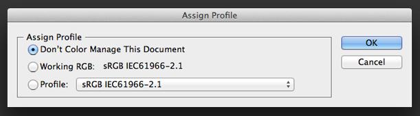 assignprofile ill Quản lý Màu sắc trên Photoshop