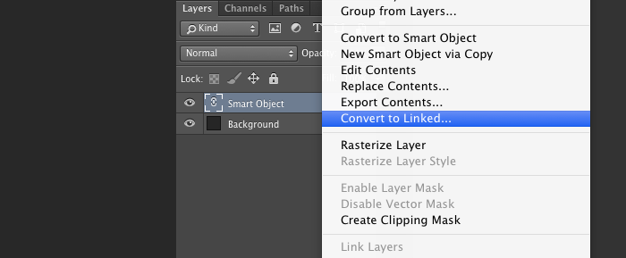 Smart Object convert to Linked
