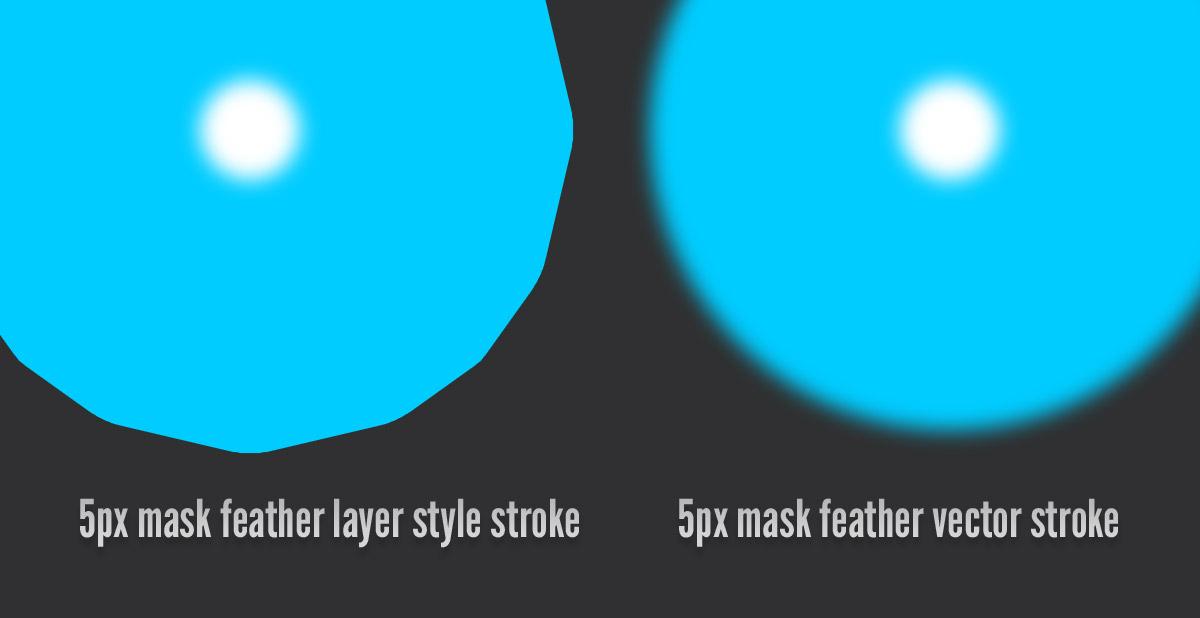 Mask feathering بهتر Vector Stroke